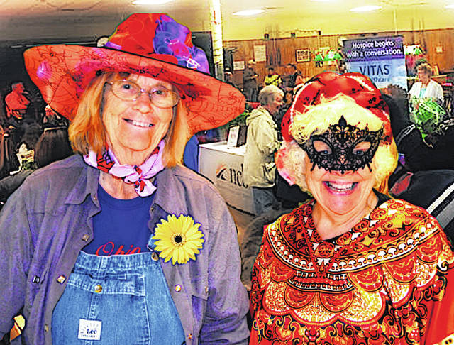 A Healthy Halloween Senior Health and Information Expo scheduled for Oct. 23 at the Highland County Senior Citizens Center in Hillsboro will feature a costume contest. Pictured in costume are senior center members Dolores Bassford and Donna Sizemore/Haynes.