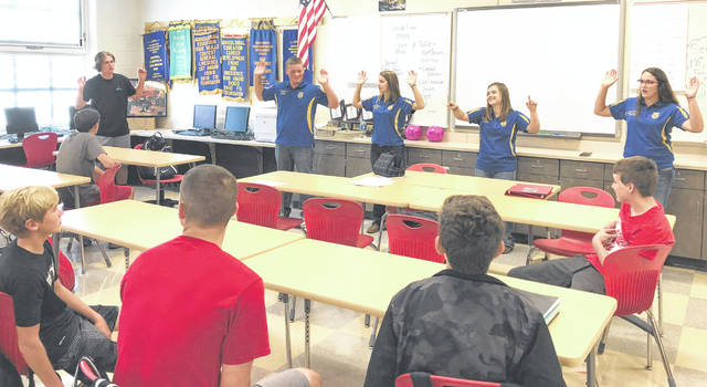 Pictured, from left, are Hillsboro FFA officers Joe Helterbrand, Jordan Williamson, Kirsten Harp and Heather Burba.