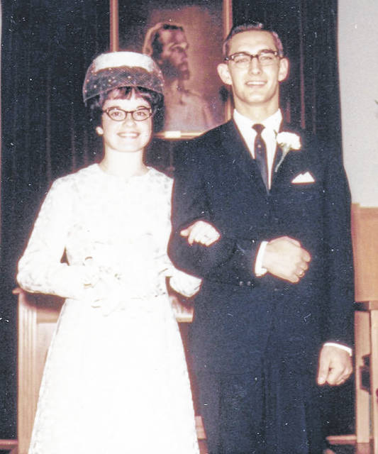 John and Libby Kidder are pictured on their wedding day on Nov. 10, 1969.