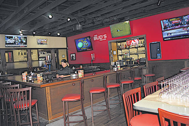 The bar area at the Hillsboro LaRosa's Family Pizzeria is shown in this photograph during Friday's soft opening.