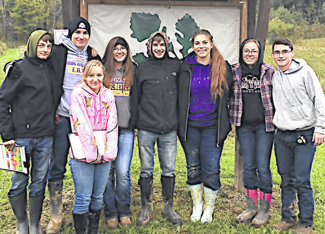 The McClain FFA ag and urban soil teams competed at the state level on Oct. 13. The ag soil judging team consisted of Holly Badgley, Caleb Cook, Alex Snyder and Richie Lester. They placed ninth in the state. The urban soils team was made up of Emily Jones, Garrett Brewer, Courtney Dodds and Josie Crabtree. They placed sixth in the state.