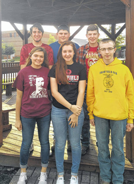 The Fairfield FFA Rural Soil Team is shown in this photo. Back row, from left, are Trey Wilkinson, Caden Shoemaker and Thomas Fraysier; and front row, from left, are Jami Dailey, Kylie Fauber and Ryan Donahue.