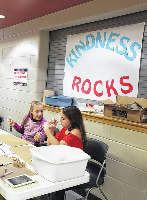 "Students are shown participating in the anti-bullying program ""Kindness Rocks"" at Hillsboro Middle School."
