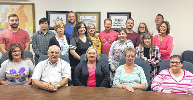 Members of the Greenfield Research leadership team include, front row (l-r), Cindy Barnes, Mike Penn, Sandy Beatty, Brenda Higgins and Nancy Rowland; second row, Adam Hollar, Chris Novak, Penny Everhart, Esther Mischal, Heather Goddard, Andrea McClain and Rhonda Decker; back row, Matt Branscomb, Glenna Barrett, Keith Hollar, Aaron Penn, Kathy Bowman and Bruce Decker. Not shown are Robert Snider, Becky Beatty, Donna Willett and Dan Michael.
