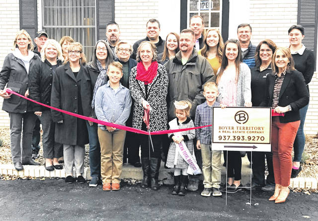 Members of Berry Territory and the Highland County Chamber of Commerce are shown at a recent ribbon-cutting at 957 N. High St. in Hillsboro.