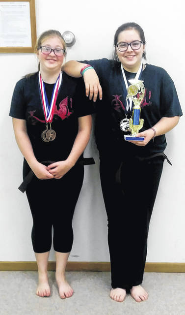 The Cross-County Bushido Karate Club traveled recently to Jackson for a karate competition. Brown Belt Winners for CCBKC were Katelin Heizer who placed second in Grappling,third in Kata, and third in Weapons; and Ariel Kibbey placed third in Grappling, and fourth in Weapons and Kata. The girls were coached by Kyoshi Rick Ludwick and Sensei Earl Paul.