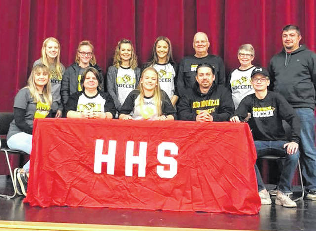 Hillsboro High School senior, Callan Myers, signed with Ohio Dominican University to continue her education and play women's soccer. Ohio Dominican University is located in Columbus, Ohio and completes in NCAA Division II athletics as members of the Great Midwest Athletic Conference.