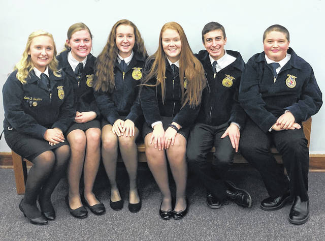 The Fairfield FFA chapter had six members participate in job interviews at McClain High School. The members included Alexis Tompkins, Paige Teeters, Kylie Fauber, Allyce McBee, Kohler Bartley and Zander Parshall. The members had a great time at the contest as they practiced real life skills. The members filled out a job application, constructed a resume, participated in an interview, and wrote a follow-up letter. Fauber placed top in her age division and qualified for the district competition.