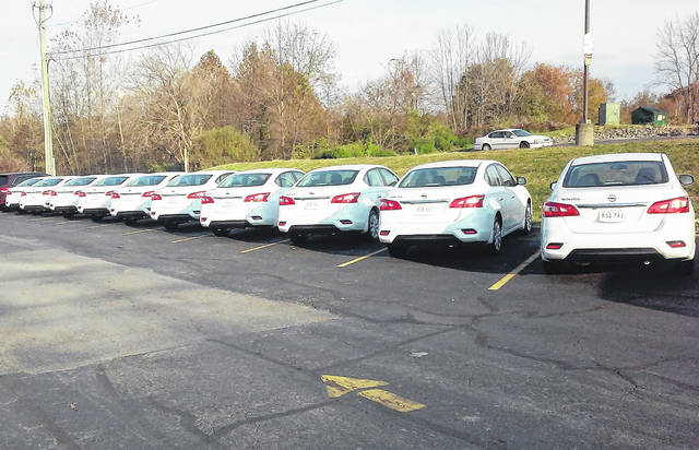 Ten new Nissan Sentras were recently delivered for Highland County Job and Family Services caseworkers. Director Katie Adams said a pair of new Chrysler minivans will arrive late next week, giving the agency a total fleet of 15 vehicles.