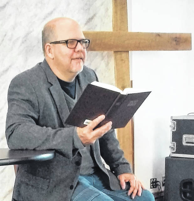 Rev. Clayton Self, the new pastor of Hillsboro First Baptist Church, is shown preaching at his church recently. Self will be the keynote speaker for the Hillsboro Area Ministerial Association's Thanksgiving service on Sunday at St. Mary's Episcopal Church.