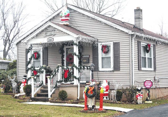 Paul and Kay Huffman's house is decorated for the holidays at 1029 Grandview Ave. in Greenfield.