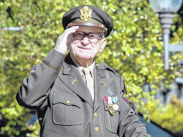 This veteran was a participant in the Columbus Veterans Day parade last year.