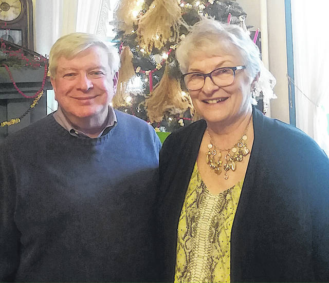 The Hillsboro Woman's Club held its monthly meeting Nov. 13 at the Highland House Museum. The guest speakers were Carolyn Hastings and Jim Rooney, who presented a program on the Underground Railroad. Pictured are Jim Rooney, left, and Carolyn Hastings.