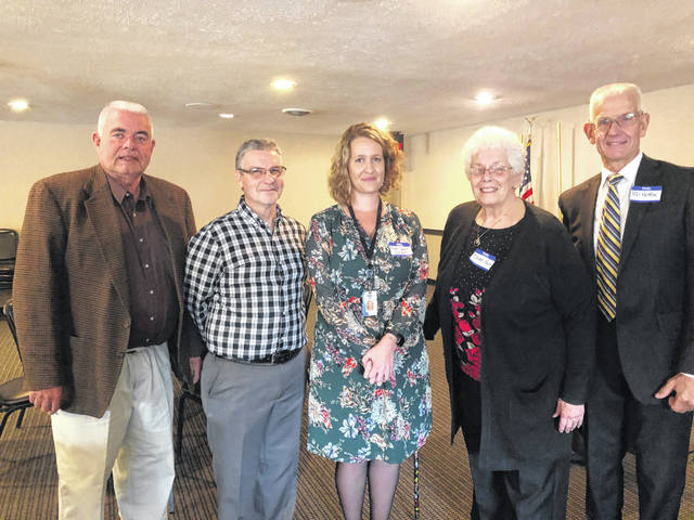 Pictured, from left, are Jim Faust, Kevin Black, Hope Short, Doris Pulse and Bob Hottle.