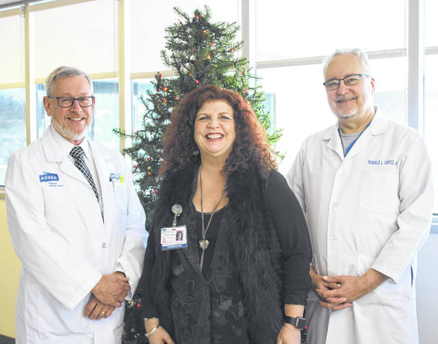 Pictured are Dr. Leroy Parks, Donna Collier-Stepp, and Dr. Ronald Lopez.