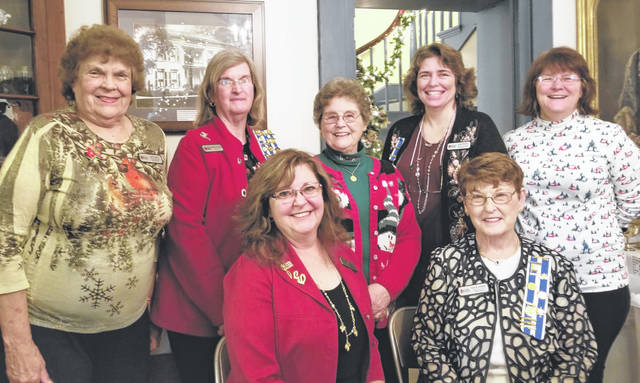 New Waw-wil-a-way Chapter Daughters of the American Revolution officers include (front row, l-r) Elissa Zornes, vice regent, and Jane Stowers, regent; (back row, l-r) Janet Florence, chaplain; Pat Young, secretary; Judy Hornsby, treasurer; Cara Pfeifer, registrar; Helen Roe, historian.