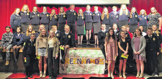 Pictured are Hillsboro FFA officers and Greenhand members with guest speaker Emma Dearth.