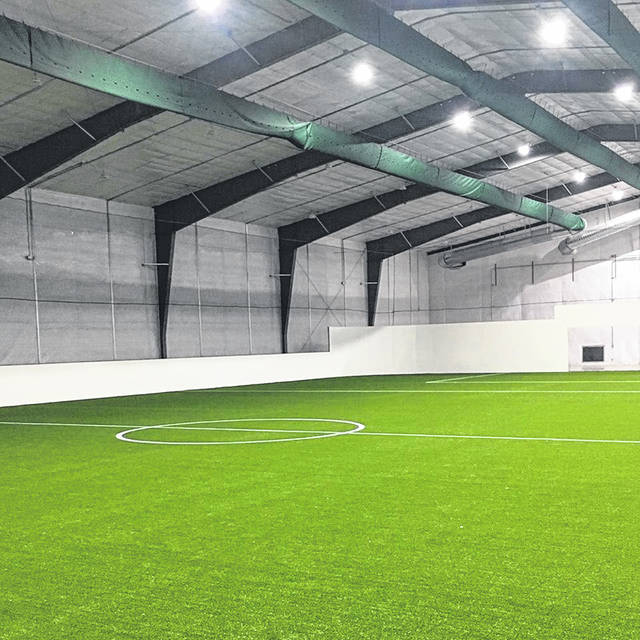 This photo shows part of the indoor soccer field at the Mt. Orab Sports Complex.