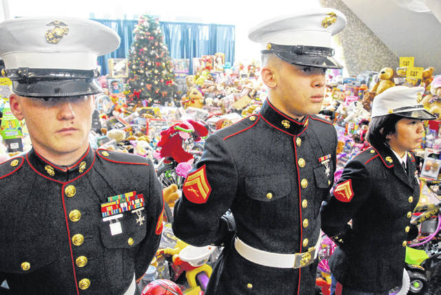 The U.S. Marine Corps Reserve Toys for Tots Program was established 60 years ago in Los Angeles, Calif.
