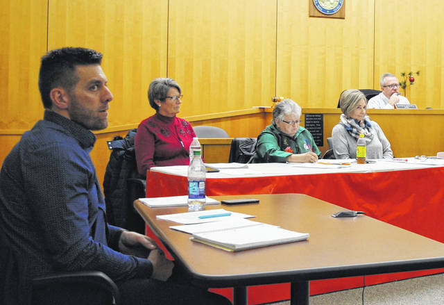 Shown from left are Hillsboro City Council members Justin Harsha, Mary Stanforth, Claudia Klein and Ann Morris. Council President Lee Koogler is shown in the background at far right.