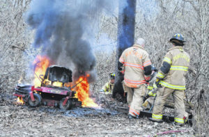 Crew responds to tractor fire