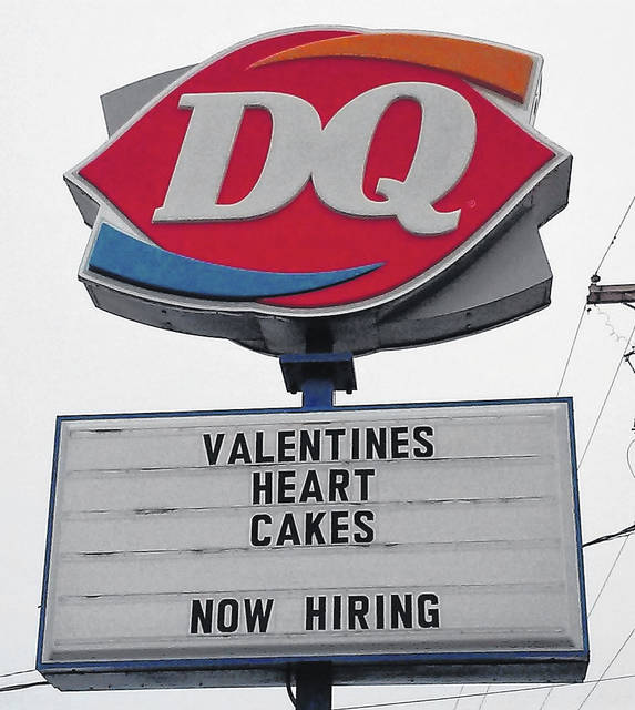 The Hillsboro Dairy Queen, opening Friday, advertises a seasonal special and job opportunities.