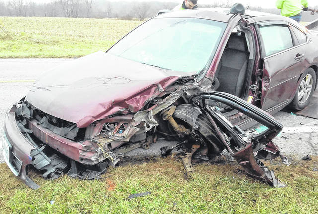 A Greenfield woman was sent to Highland District Hospital and later transported to a Dayton facility with undetermined injuries when her car side-swiped a semi-tractor trailer early Wednesday afternoon about a half-mile north of the Hillsboro city limits on U.S. Route 62 near the Hillsboro House of Prayer. According to the Wilmington Post of the Ohio State Highway Patrol, Brenda Frederick of Greenfield was southbound driving a 2007 Chevrolet Impala when it drifted left of center and collided with a Wooster Motor Ways semi-tractor trailer. Troopers at the scene told The Times-Gazette that Frederick wasn't wearing a seatbelt at the time of the crash and was taken to the hospital by the Paint Creek Joint EMS/Fire District. The driver of the semi declined treatment at the scene. The crash remains under investigation.