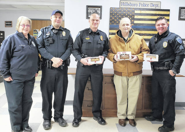 Michael Bradford, executive director at Bell Gardens Place Assisted Living in Hillsboro, recently took baked goods to the Hillsboro Police Department and the Highland County Sheriff's Office. Bell Gardens Place wanted to say thank you for all the local law enforcement community does for us and Bell Gardens recognized them on Law Enforcement Appreciation Day.