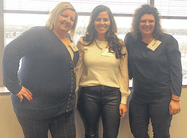 Destiny Bryson, right, of the Highland County Visitors Bureau, is pictured with Susan Valentine-Scott and Stephanie Dunham.