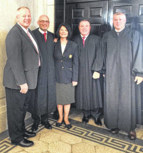Locals attend swearing-in ceremony