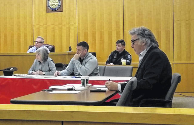 Shown from left at Hillsboro City Council's January meeting are Council President Lee Koogler, seated in the background, Councilwoman Wendy Culbreath, Councilman Brandon Leeth, Sgt. Shawn Kelley of the Hillsboro Police Department standing in for Heather Collins as clerk, and Hillsboro Mayor Drew Hastings.