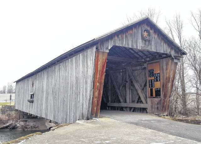 Shown is the covered bridge in Lynchburg, where authorities extinguished a fire Monday that has been deemed suspicious.