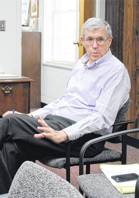 Highland County Auditor Bill Fawley described the dynamics of the audit to be conducted by the accounting firm Millhuff-Stang, CPA at Wednesday's meeting of the Highland County commissioners.