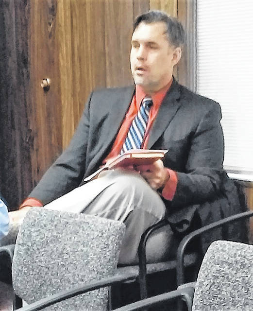 Greenfield City Manager Todd Wilkin told Highland County commissioners Wednesday that Greenfield had been awarded a $500,000 grant for infrastructure improvements.
