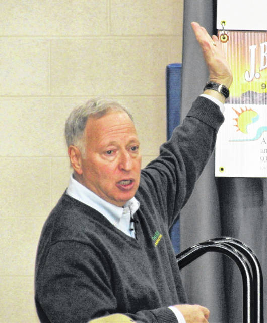 Managing partner of Top Third Ag Marketing, Mark Gold, was the keynote speaker at the Hillsboro Chamber of Commerce's Ag Is Everyone's Business seminar, held Friday at Southern State Community College's Patriot Center.