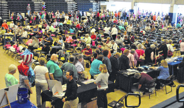 The crowd and vendors are shown at a past Times-Gazette Homemakers Show at the Southern State Community College Patriot Center.