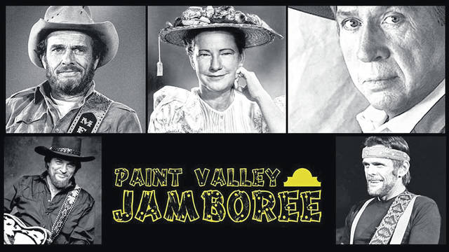 Some of the past performers at the Paint Valley Jamboree include, clockwise from top left, Merle Haggard, Minnie Pearl, Buck Owens, Johnny Paycheck and Waylon Jennings.