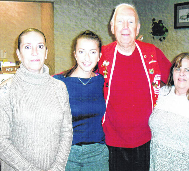 Southern Hills Community Bank was one of the Lynchburg Lions Club Candy Sale sites. Pictured, from left, are bank staff members Deena Jones and Laura Musselman, Lynchburg Lions President Bob Roth, and bank staff member Patsy Fauber.