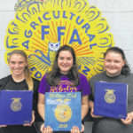 McClain FFA has gold rated officer books