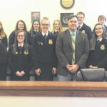McClain FFA meets with village officials