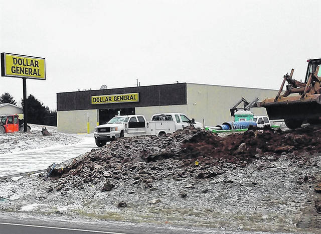 Despite the cold and snow this week, construction is progressing on Hillsboro's newest Dollar General store, located on the southern edge of town on U.S. Route 62. According to Dollar General Public Information Officer Angela Petkovic, this new store will not replace the one located at 1410 N. High St. across from Highland District Hospital. A grand opening is tentatively scheduled for early spring, but she said weather and construction issues could change the date. She told The Times-Gazette that the store will staff six to 10 employees, depending on the individual needs of the store, and anyone interested in applying for a position can do so at www.dollargeneral.com/careers.