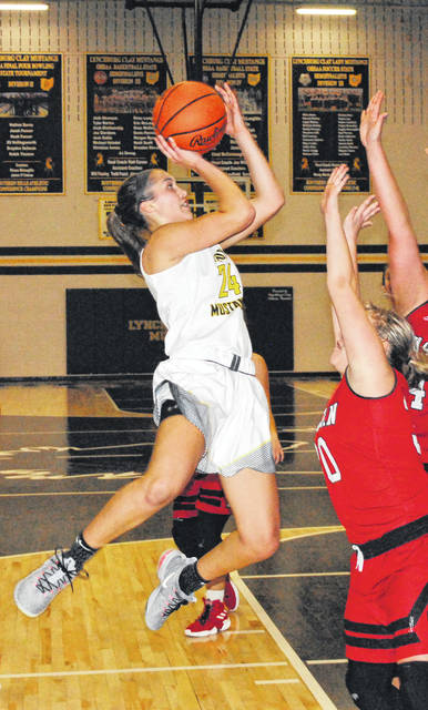 Lynchburg-Clay's Peyton Scott moved into first place on the all time scoring list Wednesday at Valley High School when she passed Paul Cluxton's previous record of 2111 points in a sectional tournament game against West High School. Scott finished the game with 2117 points and the Lady Mustangs advanced to the District semi finals on Saturday, February 16, at Valley High School against Ironton with a scheduled 4:30 p.m. tip.