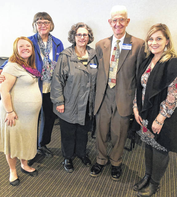Pictured, from left, are Beth Belcher, Gemelia Tyler, Gina Yezzi, Robert Hottle and Erin Richmond.