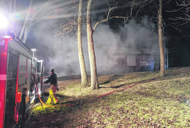 Fire crews were told that a dog alerted a homeowner to a barn fire Sunday night on Mount Washington Road near SR 247, according to Paint Creek Joint EMS/Fire District Public Information Officer Lt. Branden Jackman. Jackman said firefighters were able to contain the fire shortly before 11 p.m. Sunday, but not before the building burned to the point of total loss. Jackman said firemen were told that the dog was injured in the fire, but no other injuries were reported. The cause of the fire is undetermined.