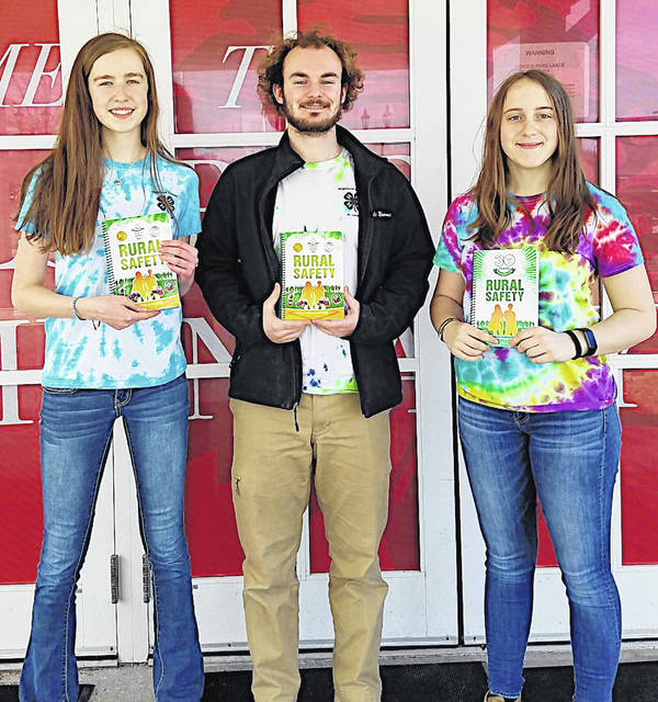 Pictured are OSU Extension Junior Leaders, from left, Sydney Hamilton, Cole Newsome and Trinity Edenfield.