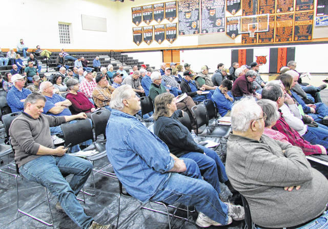 More than 150 people were in attendance at the Ohio Power Siting Board hearing held Tuesday night at Whiteoak High School in Mowrystown. A total of 29 people offered testimony about the project with 22 of them expressing support.