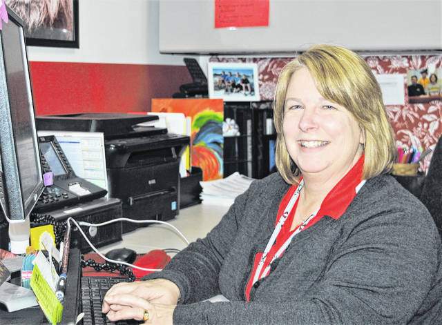 Guidance counselors like Fairfield Local High School's Debbie Mangus have the applications and information for the various scholarships available to graduating seniors this year.