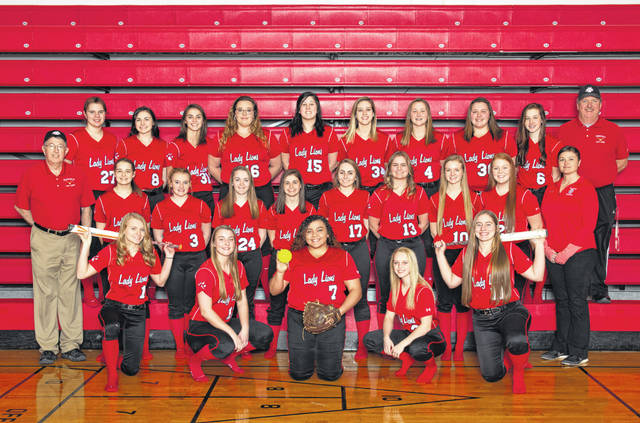 <em>(This photo was submitted as a supplement for the FHS Softball Preview published on Wednesday, March 20, was not received prior to time of press and is being published with this story instead.) </em>Front row (l-r): Megan Gragg, Lyndee Spargur, Kaiti White, Hayleigh Lowe and Lauren Arnold. Second Row (l-r): Assistant Head Coach Tom Purtell, Chloe Butts, Audrey Oder, Sadie Knisley, Autumn Avedisian, Morgan Sheridan, Harley Flint, Halle Hamilton, Allyce McBee and JV Coach Lesley Hattan. Third Row (l-r): Lynsey Smith, Molly Thackston, Caitlin Campbell, Taylor Lawson, Ashley Sanderson, Megan Crum, Layla Hattan, Gracie Lawson, Kiley Fauber and Head Coach Mark Dettwiller. Not pictured: Sara Knisley and Assistant Coach Kayla Dettwiller.