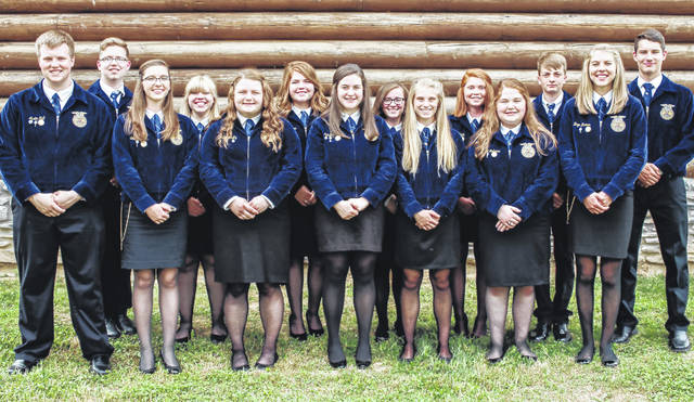 The McClain FFA officer team recently worked countless hours in order to complete the National Chapter Packet. The application consists of a description of nine of chapter's events, three goals for each event, and a plan of action to reach each goal. The nine events must also correspond with growing leaders, strengthening agriculture and building communities. There are 315 FFA chapters in the state of Ohio and only 24 of them received a gold rating. This was a goal that the officers set at an officer retreat last summer. Pictured is the McClain FFA officer team.