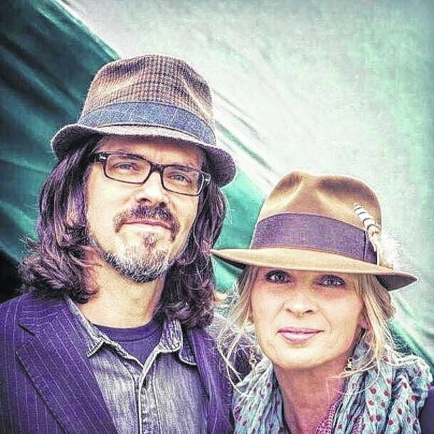 Shown are Linford Detweiler, left, and Karen Bergquist, right. Detweiler and Bergquist make up Over the Rhine, an area band.